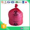 Sac rouge lourd en plastique de Biohazard pour l'hôpital