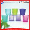 Venta al por mayor de vidrio transparente contenedor de vela