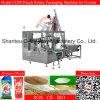 小麦粉の粉乳の自動回転式パッキング機械オーガーの注入口