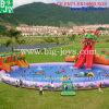 Preiswerter aufblasbarer Drache-Wasser-Park mit Swimmingpool