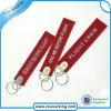 Bordado Keychain de Customzied de la insignia del poliester de la promoción