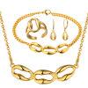 De in het groot Gouden Gouden Juwelen van de Armband van de Ring van de Oorring van de Halsband
