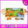 2015 het bosStuk speelgoed van het Raadsel van Dieren Houten voor Jonge geitjes, Kleurrijke Houten leert Raadsel voor Kinderen, Grappig Houten Raadsel met Knoppen W14m079