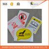 Warnzeichen-Vorsichtsmaßnahme-Kennsatz-Druckpapier-/Haustier-Kleber gedruckter Aufkleber