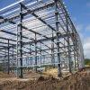 Projeção pré-fabricada da construção de aço que anuncia o edifício