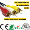 6 Pieds 3RCA Male to 3RCA Male a / V Cable (HL-125)