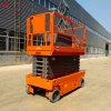 Nuevo estado y la pesada carga eléctrica de tijera autopropulsada de 24V de la plataforma de elevación hidráulica