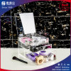 Акриловый косметический устроитель с 3 ящиками, съемными рассекателями