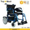 Topmedi invalidó el sillón de ruedas plegable de aluminio al aire libre de la energía eléctrica