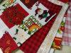 クリスマスは小型マットのテーブルクロス100%Polyester Minimattによって印刷されたファブリックGarbandin印刷されたファブリックを印刷した