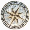Natuurlijk Marmeren Waterjet van de Steen Medaillon voor de Zaal van het Hotel (MML003)