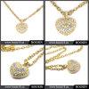 2016 de Gouden Halsband China In het groot #15356 van het Kristal van het Hart Goud Gegraveerde