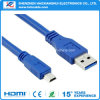 Un macho A USB 3.0 Mini 10 Pin cable del cargador de datos