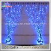 Cool White Color LED luzes de cortina de Natal com fio de PVC
