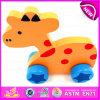 Tirez des animaux en bois jouet éducatif pour les enfants des jeux, Hot Sale enfants jouet en bois d'animaux tirer pour la promotion W05b110