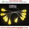 온난한 백색 노란 색깔 1m 건전지에 의하여 운영하는 LED 당 빛