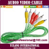 Longfull 1.5m Top Range 3 RCA aan 3 RCA Audio Video AV Cable voor Vietnam