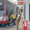 A estação de enchimento de GNL (para a empresa de autocarros)