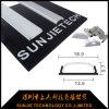 canal flexible de la tira de la aleación de aluminio 6063-T5 LED con la cubierta