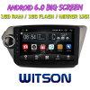 Witson grande ecrã de 9 com sistema Android 6.0 aluguer de DVD para KIA K2 2012