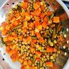 Vegetais misturados enlatados