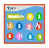 Etiquetas engomadas adhesivas coloridas de encargo con números