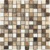 Patrón Basketweave mezcla de mármol del mosaico de piedra de cristal
