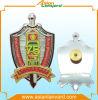 Badge métallique en métal 3D plaqué or ou imitation