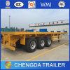 3 Aanhangwagen van de Vrachtwagen van de Container van de as Flatbed voor Verkoop