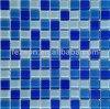 Mattonelle di cristallo blu di vetro di mosaico, mattonelle della piscina