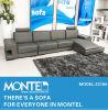 Sala de Estar barato sofá de couro genuíno moderno definido
