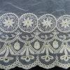 de la tela francesa del cordón del algodón blanco (L5116)