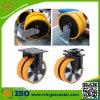 Hochleistungsdoppelrad-industrielle Fußrolle