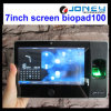 Le nouvel écran tactile 7 pouces RFID Horloge temps d'empreintes digitales avec WiFi Batterie de secours
