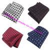 Vente en gros Classical Small Check Polyester Silk Men's Handkerchief