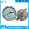 Indicateur de la pression 4MPa rempli d'huile de la glycérine de grande précision 100mm avec la bride