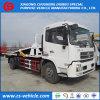 Dongfeng 10tons Drie Vrachtwagen van het Slepen van Wrecker van de Terugwinning van de Auto-carrier Flatbed