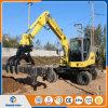 excavador de la rueda 4WD con el equipo de Grapper