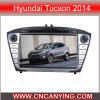 Reprodutor de DVD especial do carro para Hyundai Tucson 2014 com GPS, Bluetooth. com o Internet duplo de WiFi 3G do disco do núcleo 1080P V-20 do chipset A8. (CY-C361)