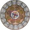 Mosaico di vetro della decorazione del pavimento della moquette rotonda del pavimento (CFD194)