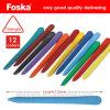 Boîte de couleur de l'emballage 12 couleurs Kids ensemble crayon en plastique