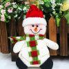 Jouet en gros d'art de tissu de pendants de Bells de Noël pour la décoration