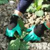숙녀 경량 손 방어적인 꽃 폴리에스테 정원 일에 의하여 착색되는 니트릴 장갑