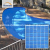 Mosaico de vidrio cuadrado azul piscina mosaico