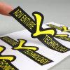 De Zelfklevende Afgedrukte Sticker van uitstekende kwaliteit