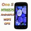 4.6 Android capacitivo 4.0 G/M WiFi da tela MTK6575 WCDMA da polegada um telefone esperto de S