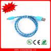 Trenzado de nylon para el relámpago iPhone5 al cable de datos del USB