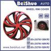 couverture de peau de roue de RIM de l'argent 15 d'ABS de chapeau de pivot 4PCS