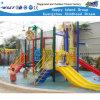 Patio plástico de la diapositiva del parque del agua pequeño para el juego de los cabritos (A-06302)