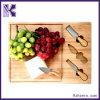 Большое вырезывание доски сыра установило с ножами и инструментами. Бамбук 100% естественный. Хорошо для вырезывания хлеба и улучшите для подарка